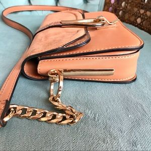 Tan crossbody handbag with gold hardware from ASOS